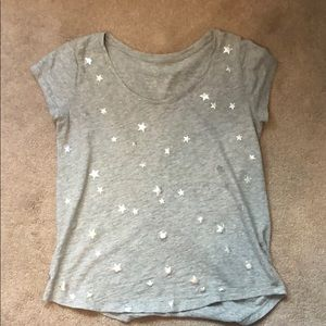 Gap gray tee with silver stars small
